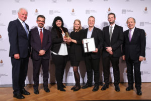 "Gewinner Kategorie ""Forschung & Entwicklung in KMU"": SIMCharacters GmbH mit dem Projekt ""Frühgeborenensimulator Paul"", ©B&C/APA-Fotoservice/Schedl"