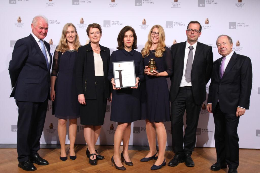 "Gewinner Kategorie ""Universitäre Forschung"": Universität Wien mit dem Projekte ""Grüne Standards in der Metabolomforschung"", © B&C/APA-Fotoservice/Schedl"