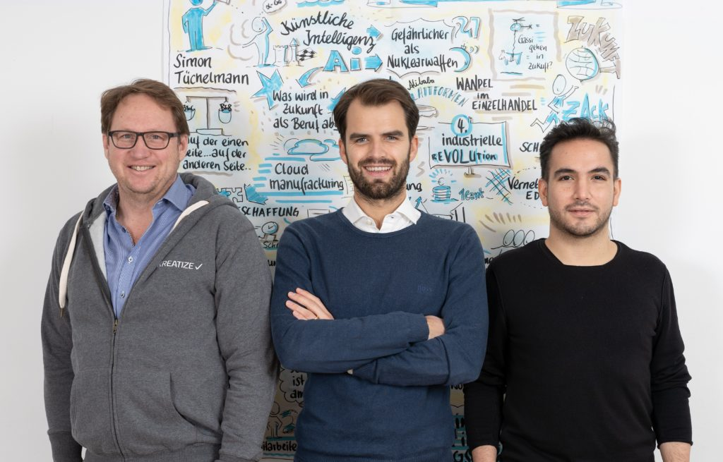 KREATIZE: Thomas Hoffmeister (CCO), Simon Tüchelmann (CEO), Daniel A. Garcia Rodriguez (CTO), (c) KREATIZE