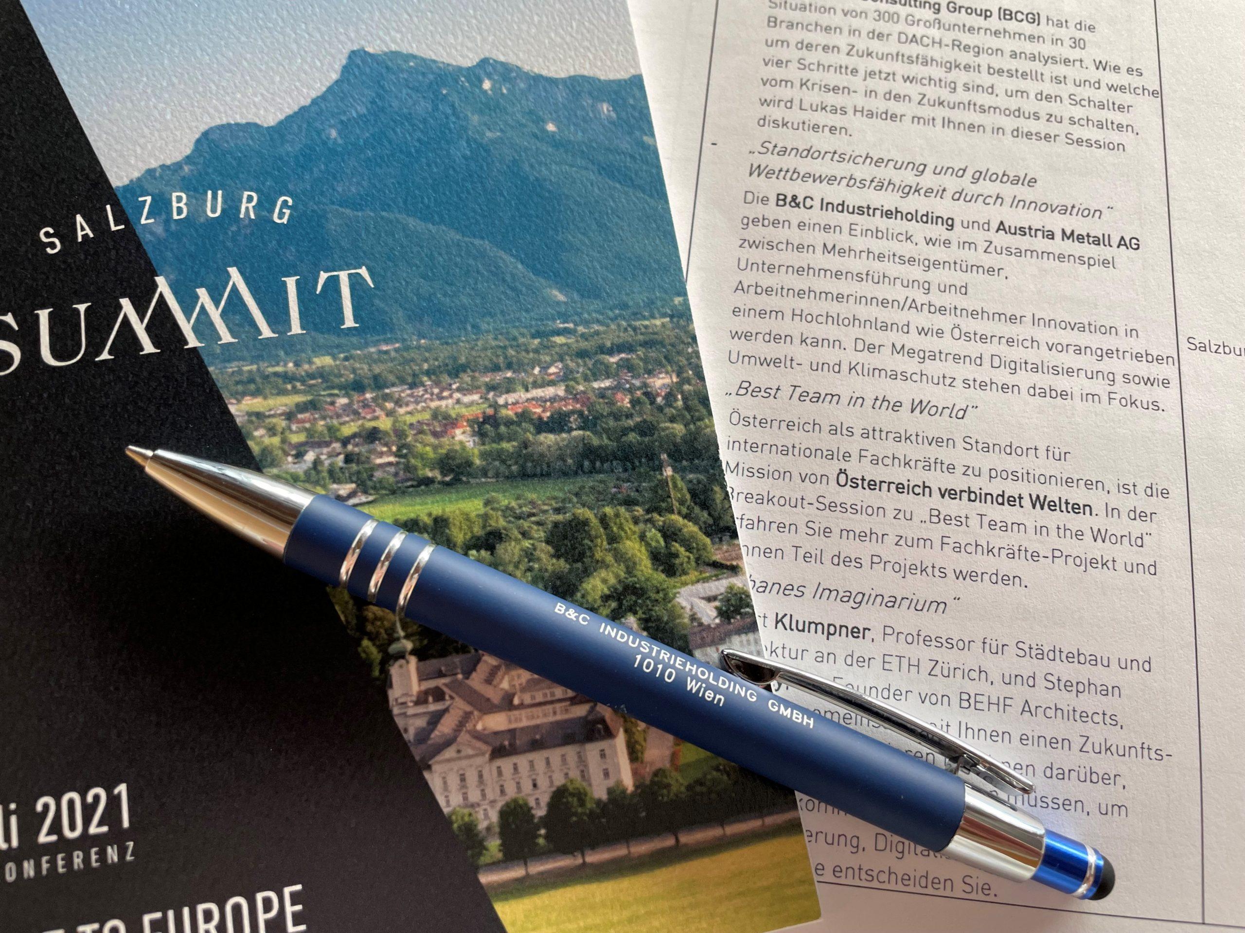 Salzburg Summit 2021 - Programm